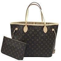 Louis Vuitton Neverfull MM Monogram Beige M40995 Handbag