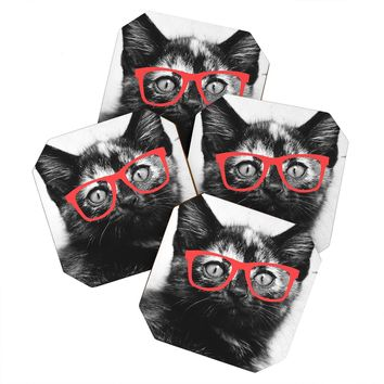 Allyson Johnson Sassy Kitten Coaster Set