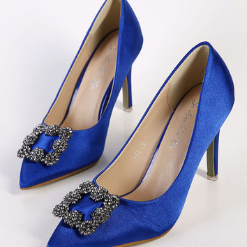 Rhinestone High Heel Pointed Toe Shoes = 4814732740