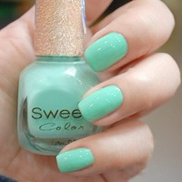 Tiffany Blue Sweet Color 12 ml Nail Polish from 1Point99.com