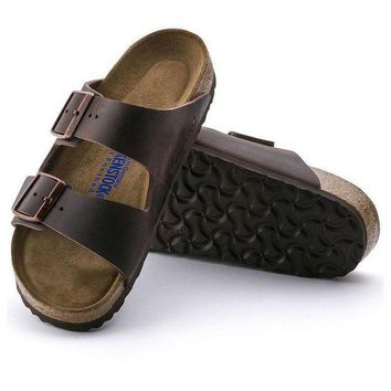 CREYNW6 Sale Birkenstock Arizona Soft Footbed Oiled Leather Habana 0452761/0452763 Sandals
