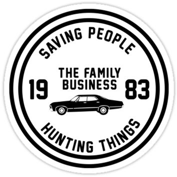 'Supernatural - The Family Business' Sticker by sittingdowntype
