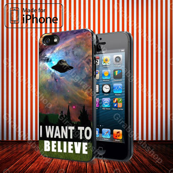 I Want To Believe X-file Movie Galaxy Nebula IPhone 4 / 4S, IPhone 5 / 5S / 5C, Samsung Galaxy S3 / S4 Case