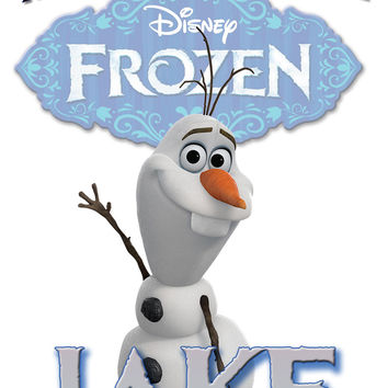 Personalized Custom Birthday T-shirt Disney Frozen Olaf