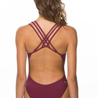 Ryker Fixed-Back Onesuit - Cabernet