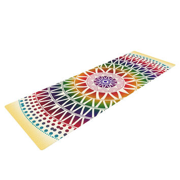 "Famenxt ""Colorful Vibrant Mandala"" Rainbow Geometric Yoga Mat"