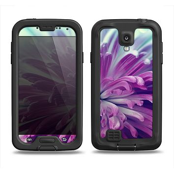 The Vivid Purple Flower Samsung Galaxy S4 LifeProof Fre Case Skin Set