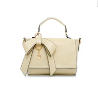 Candy Colored Bowknot Leather Bag