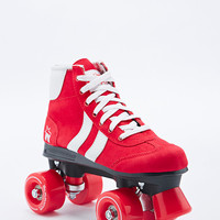 Retro Rollerskates in Red and White - Urban Outfitters