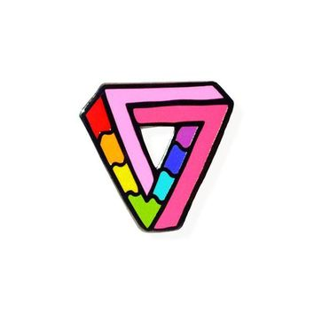 Impossibly Gay Triangle Pin