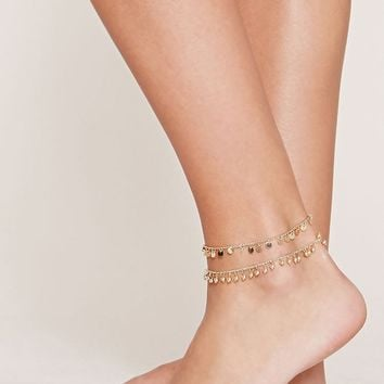 Disc Anklet Set