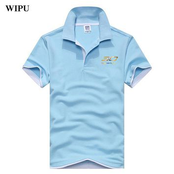 2018 Summer Men Polo Shirt Curry 30 Style Plus Size printing Breathable Cotton Polo Shirts