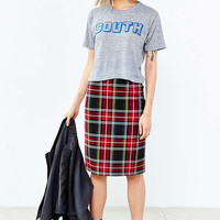 BB Dakota Lyla Plaid Pencil Skirt - Urban Outfitters