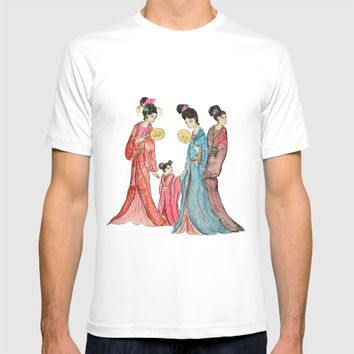 Ancient Chinese ladies painting T-shirt by Color and Color