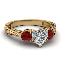 AMAZING 4.25CT HEART SOLITAIRE STUD 925 STERLING SILVER ENGAGEMENT RING FOR HER