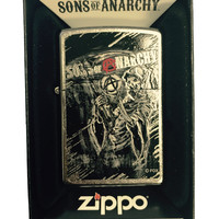 Zippo Custom Lighter - Samcro Sons of Anarchy with Anarchy Reaper - Regular Street Chrome 207-CI402620
