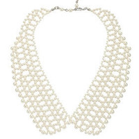 Pearl Peter Pan Necklace - Collars  - Accessories
