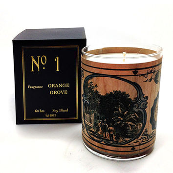 Wood Candle No. 1 Orange Grove