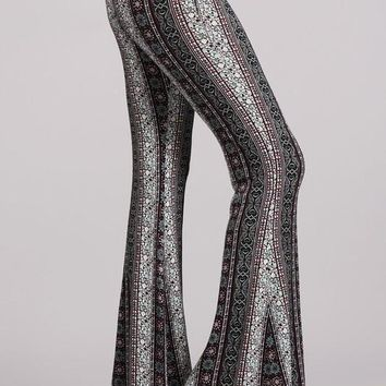 Pink and Teal Retro Bell Bottoms