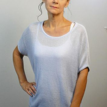 Linen  and Organic Cotton Knit - Dolman