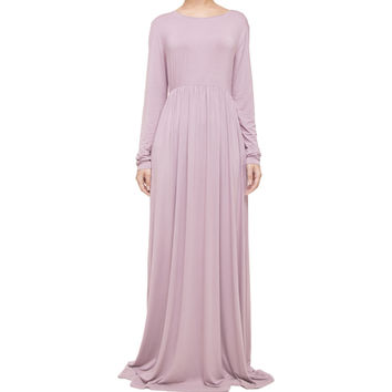 WOODROSE GATHERED ABAYA - £39.00 : Inayah, Islamic clothing & fashion, abayas, jilbabs, hijabs, jalabiyas & hijab pins