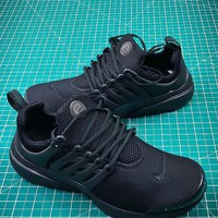Nike Air Presto TP QS All Black #7 Breathable Sport Running Shoes - Sale