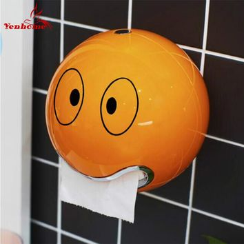 ABS Plastic toilet paper holder bathroom roll paper holder A variety of colors Creative Roll tissue box Free Shipping ZWJ-005