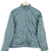 NIKE teal nylon windbreaker jacket / storm fit / pullover packable rain / minimal athletic / basic solid color plain / small - medium