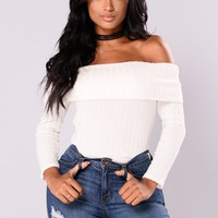 Paulina Off Shoulder Top - Ivory