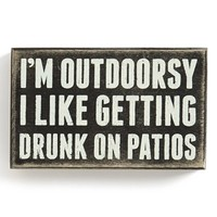 Primitives by Kathy 'I'm Outdoorsy' Box Sign