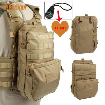 SPANKER 3L Tactical Molle Hiking Hydration Pack Outdoor First Aid JPC Vest Water Bag Military Assault Backpack 1000D Waterproof
