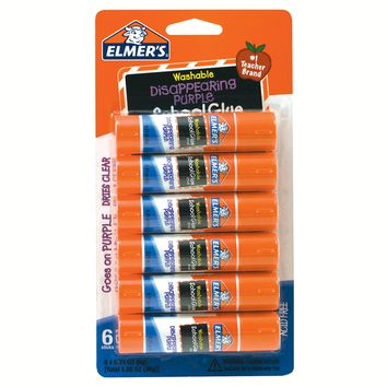 Elmer's® Washable Glue Sticks Disappearing Purple - 6ct