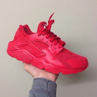 New Custom Triple All Red October Huaraches
