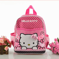 2016 Children Girls Hello Kitty Mini Backpack Catoon School Bag Students Gift