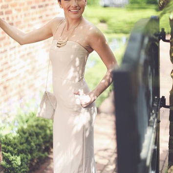 Sophisticated Bridal Dress in Cream