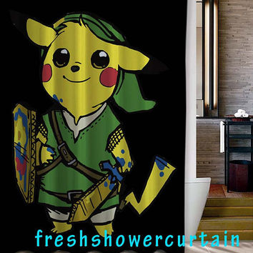 the legend of pikachu Shower Curtain