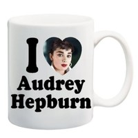 I LOVE AUDREY HEPBURN Mug Cup - 11 ounces