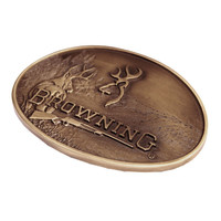 Browning Buckmark Deer Brass Belt Buckle
