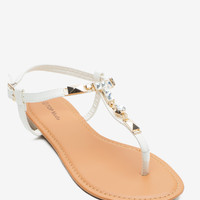 Nacy 16 Metal and Stone Sandal