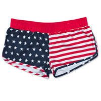 USA Patriotic American Flag Junior Swim Shorts | WearYourBeer.com