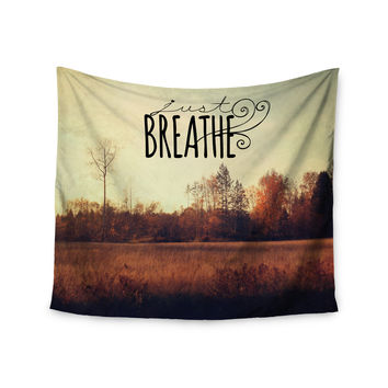 "Sylvia Cook ""Just Breathe"" Brown Tan Wall Tapestry"