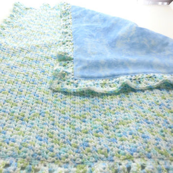 Reversible Baby Blanket Crochet Gender Neutral