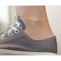 1Pc Fashion Women Anchor Anklet Foot Bracelets Barefoot Sandals Anklets Sexy Tin Chain Beach Anklets Jewelry