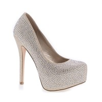 68968 By Deb, Sparkling Rhinestone Studded Platform Stiletto Heel Pumps