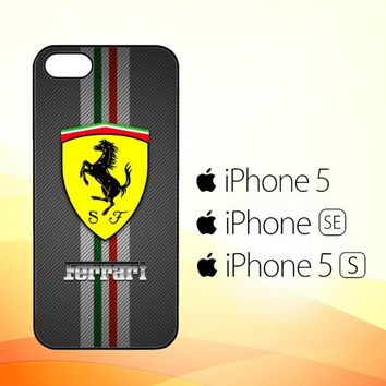 Texture Ferrari Black O0625  iPhone 5|5S|SE Case