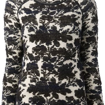 Tory Burch Floral Print Sweater