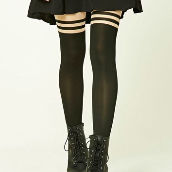 Colorblock Striped Tights