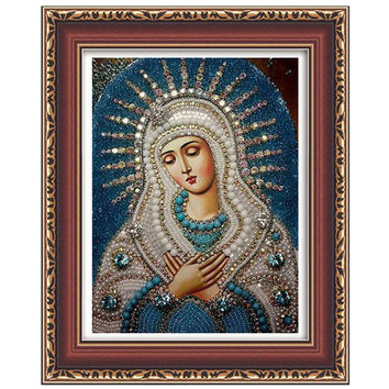 5d diy diamond embroidery Religious Our Lady and baby diamond painting Jesus mosaic beadwork pictures Rhinestones cross stitch