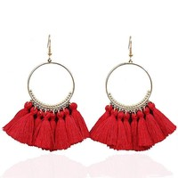 Bohemian Fringed Dangle Earrings