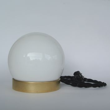 Crystal Ball Brass Desk Lamp